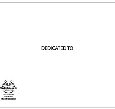 Landscape Dedication Page - Free Replacement Kit Materials