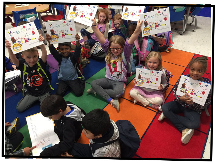 #Proudauthors at Cooke Elementary celebrate the arrival of their Kindergarten Memories classbooks.